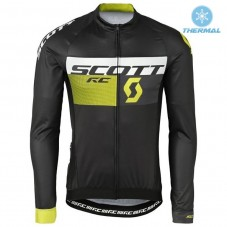 2016 Scott RC Black-Yellow Thermal Long Sleeve Cycling Jersey