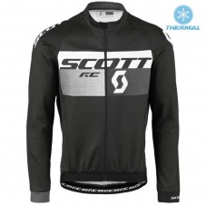 2016 Scott RC Black-Grey Thermal Long Sleeve Cycling Jersey