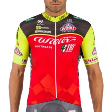 2016 Team Wilier Southeast Red-Fluo Cycling Jersey
