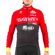2017 Wilier Pro Team Red-Black Long Sleeve Cycling Jersey