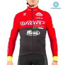 2017 Wilier Pro Team Red-Black Thermal Long Sleeve Cycling Jersey