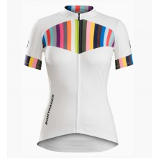 2016 Bontrager Anara Women White And Color Stripes Jersey