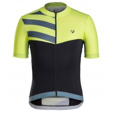 2016 Bontrager Velocis Yellow-Black Sleeve Cycling Jersey