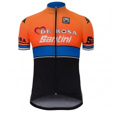 2017 De-Rosa Team Orange-Black Cycling Jerseys