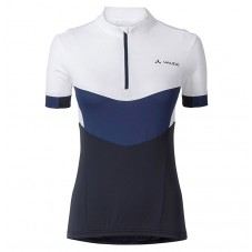 2017 Vaude Advanced II Women's White-Blue Cycling Jerseys