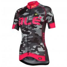 2017 Ale Graphics PRR Camo Women's Black-Pink Cycling Jerseys