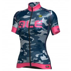 2017 Ale Graphics PRR Camo Women's Blue-Pink Cycling Jerseys