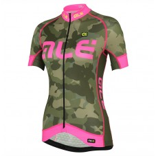 2017 Ale Graphics PRR Camo Women's Green-Pink Cycling Jerseys