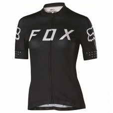 2017 Team FOX Women's Black-White Cycling Jerseys