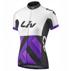 2017 Liv Race Day Women's White-Purple Cycling Jerseys