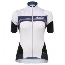 2017 Santini Queen Of The Mountains Women's White Cycling Jerseys