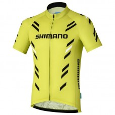 2017 Shimano Performance Print Yellow Cycling Jersey