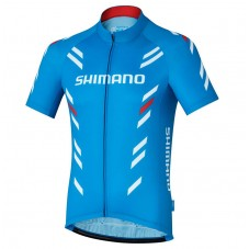 2017 Shimano Performance Print Blue Cycling Jersey