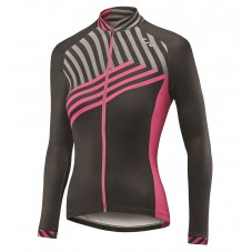 2017 Liv Accelerate Women's Black-Pink Long Sleeve Cycling Jersey