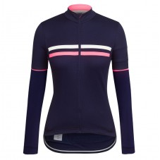 2017 Rapha Brevet Blue-Pink Women Long Sleeve Cycling Jersey