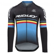 2017 Ridley Rincon Black-Blue Long Sleeve Cycling Jersey