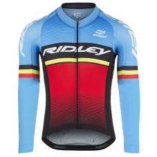 2017 Ridley Rincon Blue-Red Long Sleeve Cycling Jersey