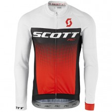 2017 Scott RC White-Black-Red Long Sleeve Cycling Jersey