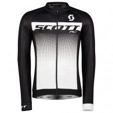 2017 Scott RC Black-White Long Sleeve Cycling Jersey