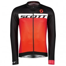 2017 Scott RC Black-Red Long Sleeve Cycling Jersey