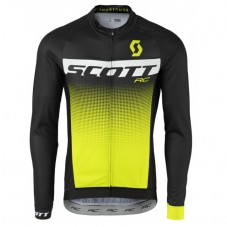 2017 Scott RC Black-Yellow Long Sleeve Cycling Jersey