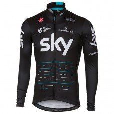 2017 Team SKY Black Long Sleeve Cycling Jersey