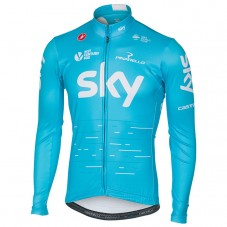 2017 Team SKY Blue Long Sleeve Cycling Jersey