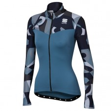 2017 Sportful Primavera Blue Women Long Sleeve Cycling Jersey