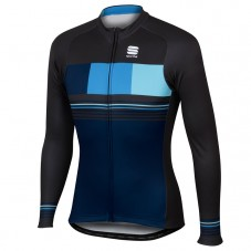 2017 Sportful Stripe Blue Long Sleeve Cycling Jersey