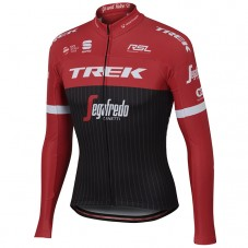 2017 Trek Pro Race Red Long Sleeve Cycling Jersey