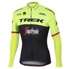 2017 Trek Pro Race Yellow Long Sleeve Cycling Jersey