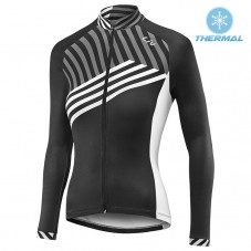 2017 Liv Accelerate Women's Black-White Thermal Long Sleeve Cycling Jersey