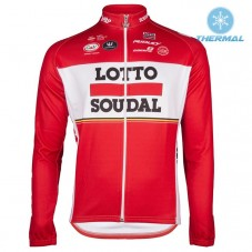 2017 Lotto-Soudal Red Thermal Long Sleeve Cycling Jersey