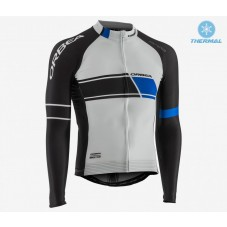 2017 Orbea Team White Thermal Long Sleeve Cycling Jersey