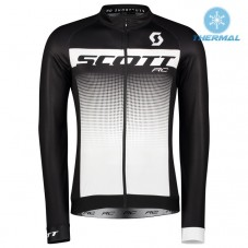 2017 Scott RC Black-White Thermal Long Sleeve Cycling Jersey