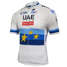 2018 Team UAE European Champion White Cycling Jersey