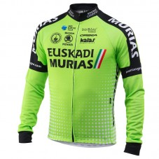 2018 Euskadi Murias Team Green Long Sleeve Cycling Jersey
