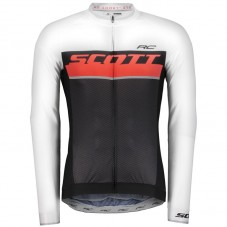 2018 Scott-RC Whte-Red-Black Long Sleeve Cycling Jersey