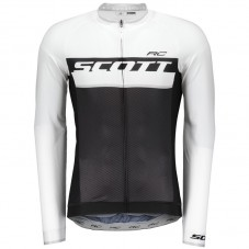2018 Scott-RC Black-White Long Sleeve Cycling Jersey