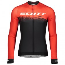 2019 Scott-RC PRO Black-Red Long Sleeve Cycling Jersey