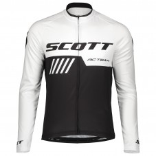 2019 Scott-RC-Team Black-White Long Sleeve Cycling Jersey