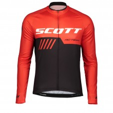 2019 Scott-RC-Team Black-Red Long Sleeve Cycling Jersey