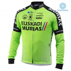 2018 Euskadi Murias Team Green Thermal Long Sleeve Cycling Jersey