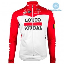 2018 Lotto Soudal Red Thermal Long Sleeve Cycling Jersey