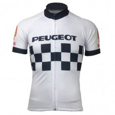 Peugeot Team 1983 Retro White Cycling Jersey
