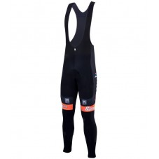 2016 Team DE-ROSA Black-Orange Cycling Bib Pants