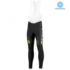 2016 Scott RC Black-Yellow Thermal Long Cycling Bib Pants