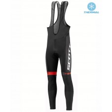 2016 Scott Team Black-Red-White Thermal Long Cycling Bib Pants