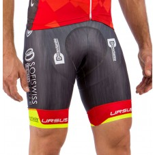 2016 Team Wilier Southeast Red-Fluo Cycling Bib Shorts