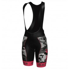 2017 Ale Graphics PRR Camo Women's Black-Pink Cycling Bib Shorts